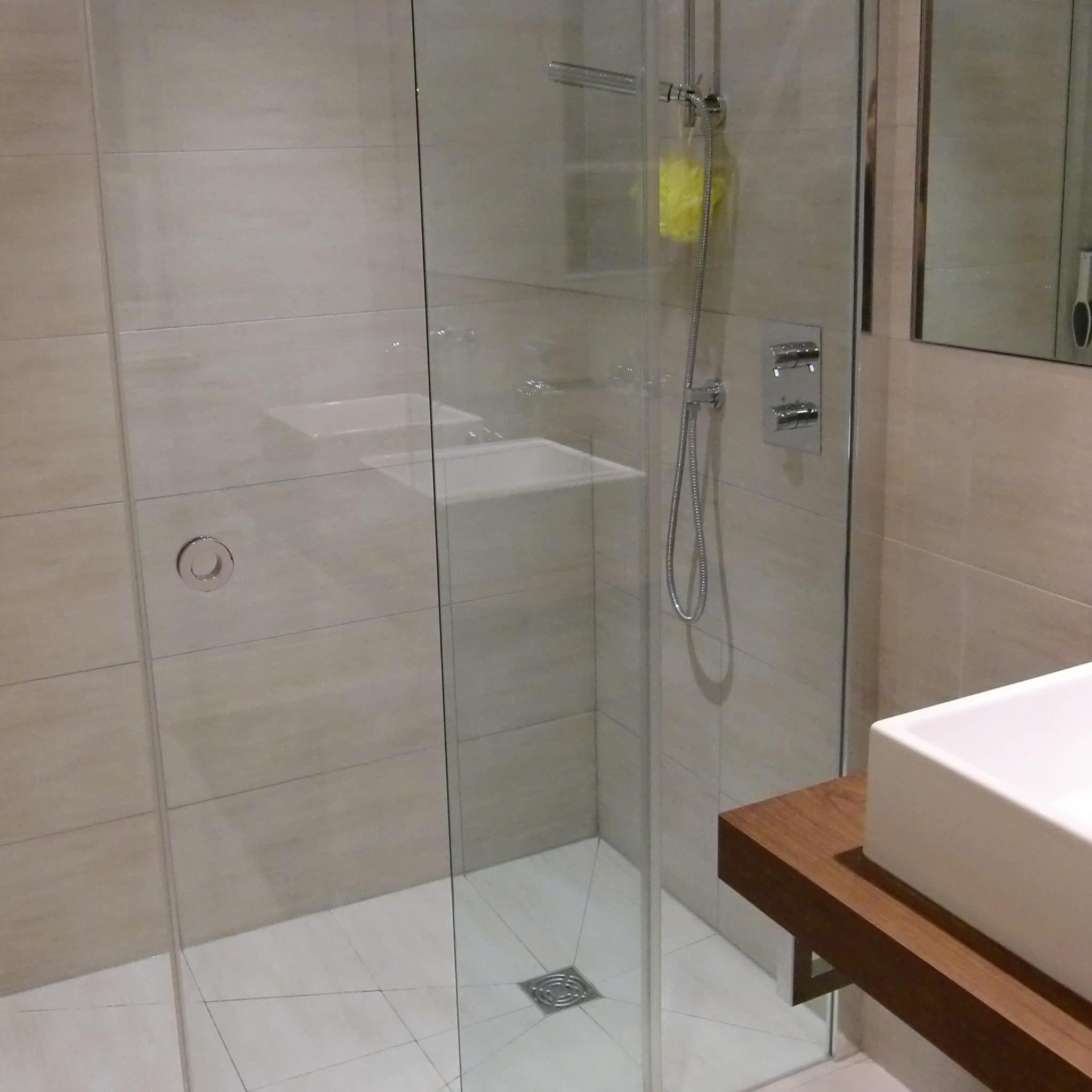 douche à l'italienne miroire