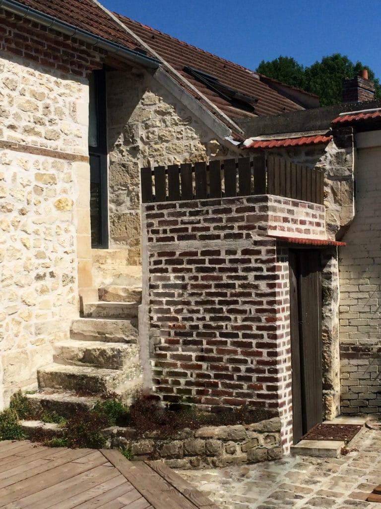 Extension brique jardin